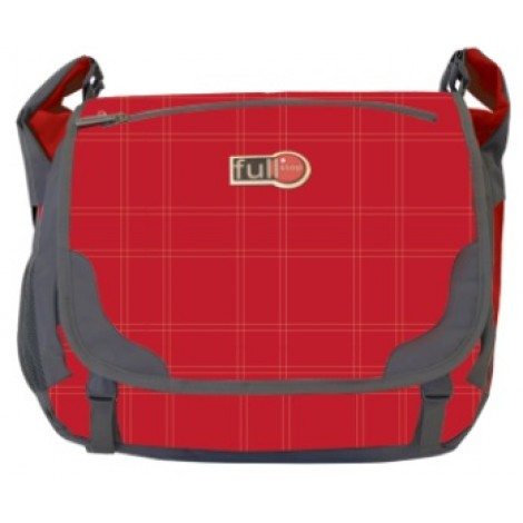 Full Stop (2061) School Bag Color Red Messenger FCBM-711-C16