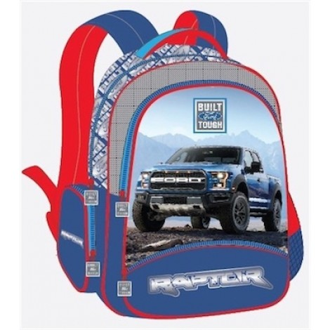 "Ford Truck School Bag 17"" 3 Compartment 3 Zippers BP FT01-11"