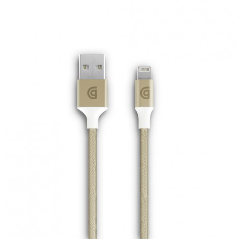 Griffin Braided Lightning Cable 5Ft Gold GC40903