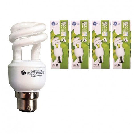 GE Energy Saving Lamp 9W B22 4pcs