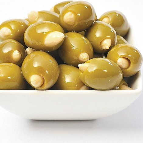 Green Olives Stuffed With Almond, Per Kg