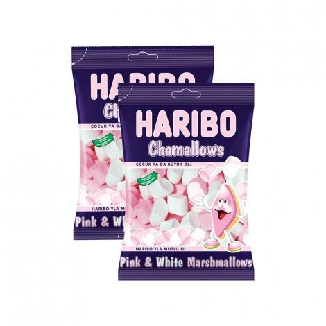 Haribo Pink&White Marshmallows - 2x150gm