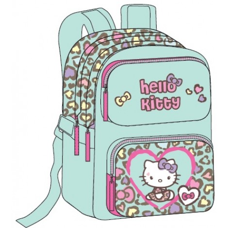 "Hello Kitty School Bag 18"" Purple BackPack  HK334-503"