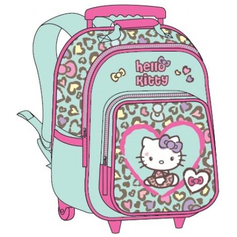 """Hello Kitty School Bag 15"""" Purple Trolley HK334-1003"""