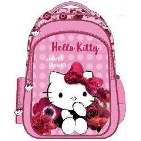 "Hello Kitty School Bag 15"" Red Velvet BackPack  HK304-1090"