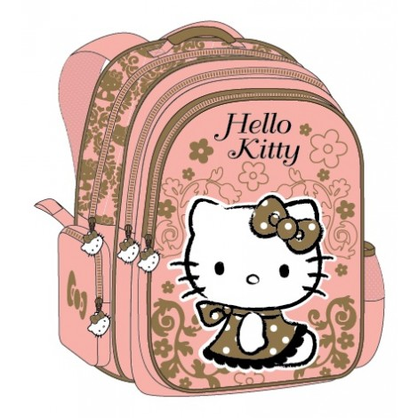 "Hello Kitty (8996) School Bag 17.5"" Rococo BP HK305-1078"