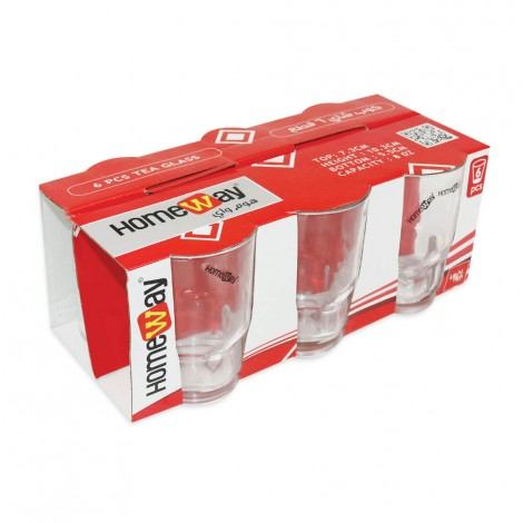 Homeway Galss Tumbler 6Pcs Pack 8Oz