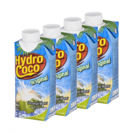 Hydrococo Coconut Water, 4x330ml