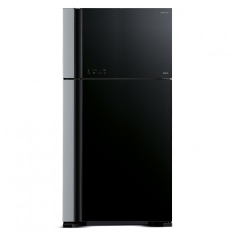 Hitachi 720L Double Door Refrigerator, Glass Black, R-VG720