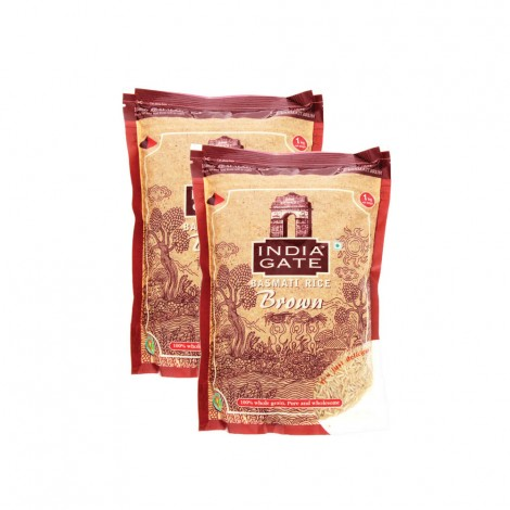 India Gate Basmati Brown Rice 2x1Kg