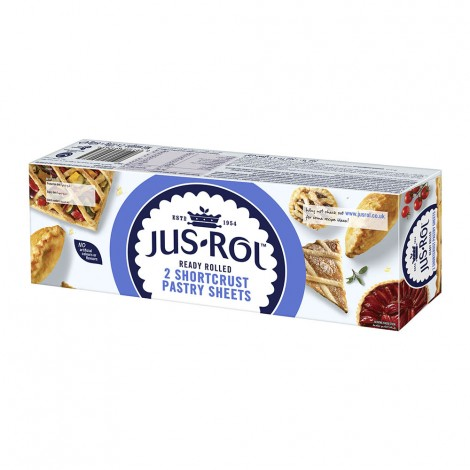 Jus Rol Puff Short Crust Pastry Sheets, 640gm