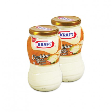 Kraft Cheddar Spread 2x480gm