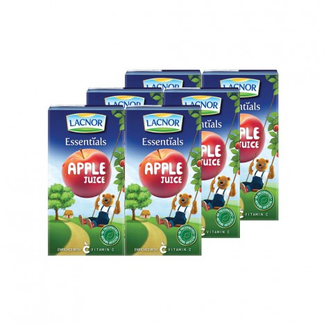 Lacnor Apple Juice - 6x125ml