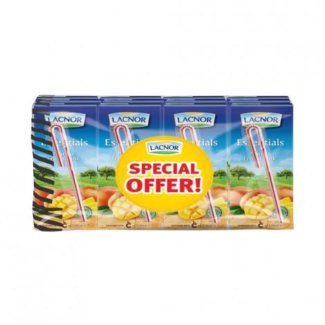 Lacnor Essentials Mango Fruit Drink 12x180ml