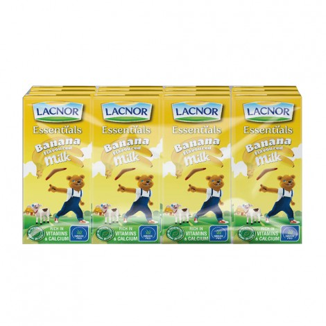 Lacnor Flavored Milk Banana - 12x180ml