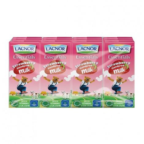 Lacnor Flavored Milk Strawberry - 12x180ml