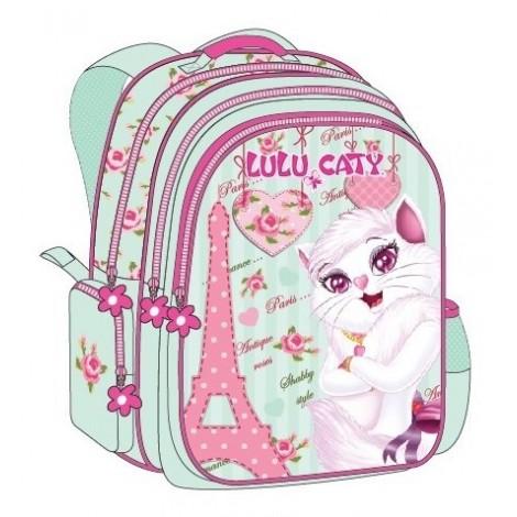"""Lulu Caty (7821) School Bag 17.5"""" Paris BackPack  LU34-1078"""