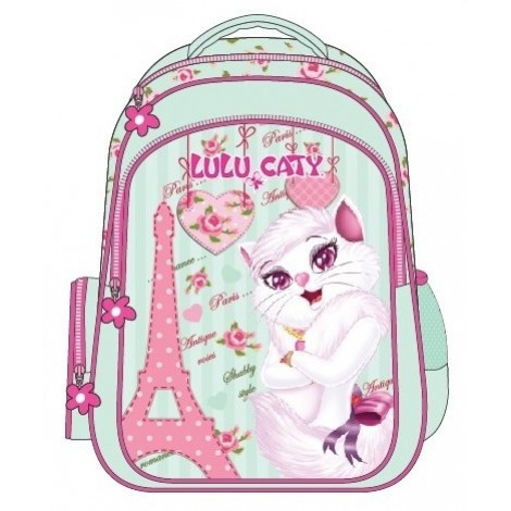 "Lulu Caty (7845) School Bag 15"" Paris BackPack  LU34-1090"