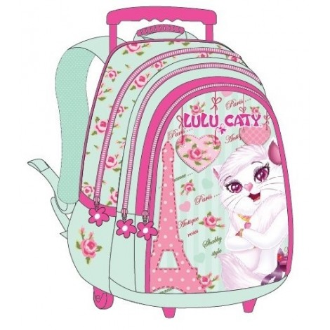 "Lulu Caty (7852) School Bag 18"" Paris Trolley LU34-1004"