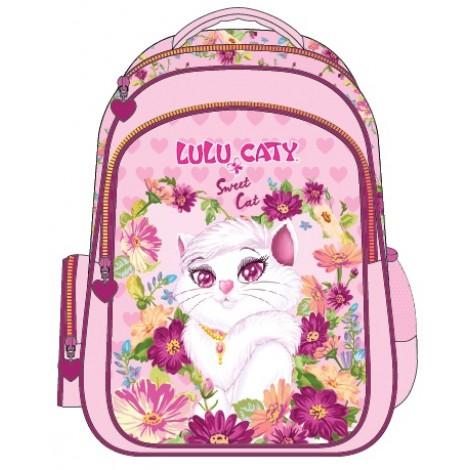 "Lulu Caty (8880) School Bag 15"" Sweet Cat BackPack LU35-1090"
