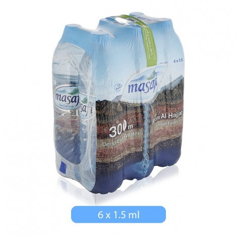 Masafi Natural Mineral Water Bottle - 6 x 1.5 Ltr