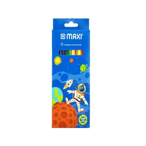 Maxi Colour Pencils Card Pack 12'S