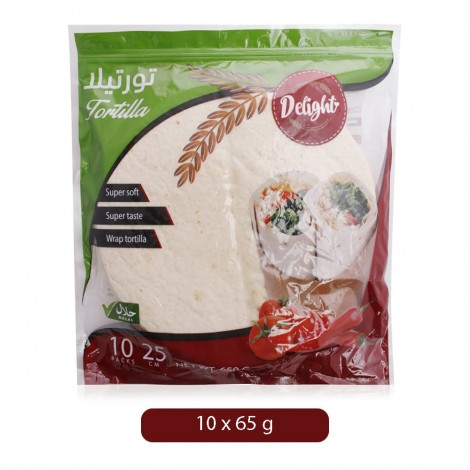 Mayamen Whole Wheat Tortilla - 10 x 65 g