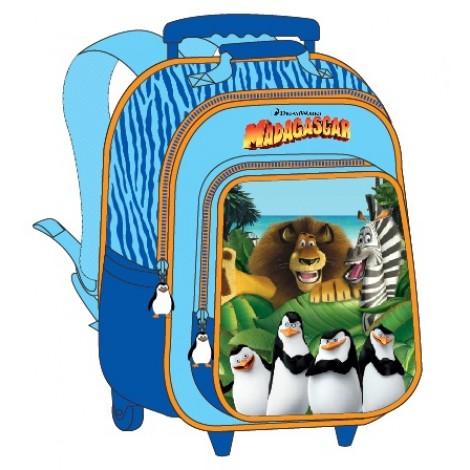 """Madagascar (7937) School Bag 15"""" Trolley MD02-1003B"""