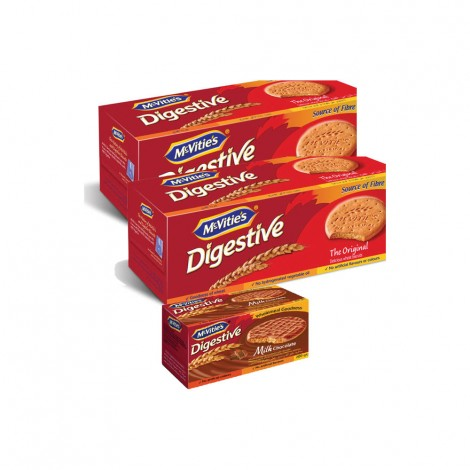 Mecvites Digestive Biscuits 2x400gm + Dark Chocolate 200gm