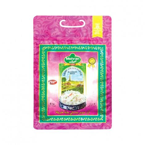 Mehran Long Grain Super Basmati Rice, 5kg