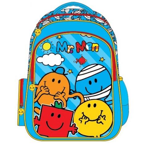 "Mr. Men (0890) School Bag 15"" BackPack  MS04-1090"