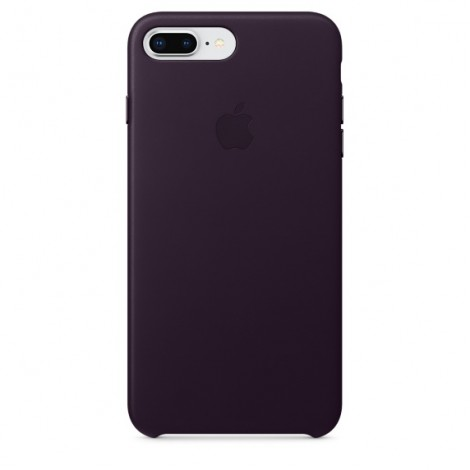 Apple iPhone 8 Plus / 7 Plus Leather Case - Dark Aubergine MQHQ2ZM/A