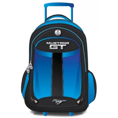 "Mustang School Bag 17"" Blue Trolley MST37C-1122-17"