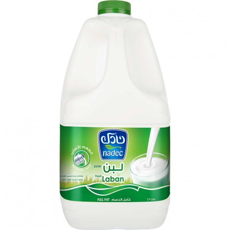 Nadec Fresh Laban Full Cream 3 Ltr