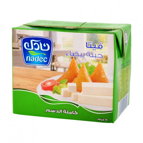 Nadec Full Cream Feta Cheese, 500gm