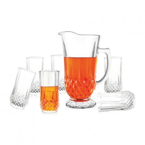 National Diamond Water Jug 7Pc Set