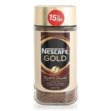 Nescafe Gold Rich & Smooth Coffee - 200 g