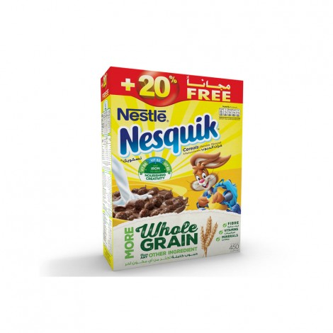 Nestle Nesquik Cereals Chocolate Flavoured 450gm