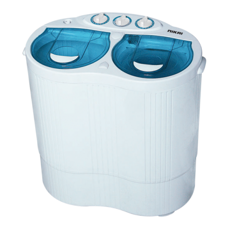 Nikai Semi-Automatic Top Load Washing Machine 2.5Kg NWM250SPN