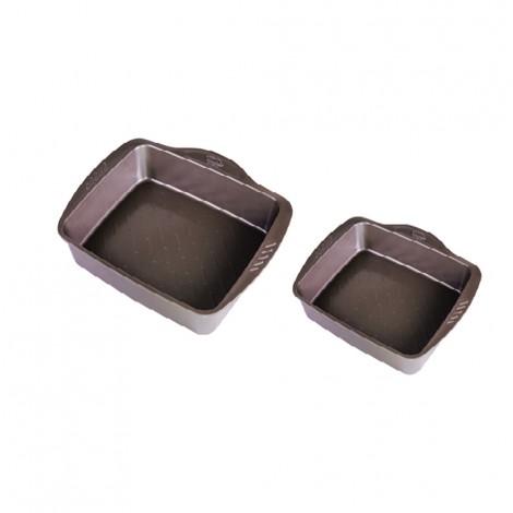 Pyrex Assimetria Metal Set Rectangular Roaster - 35x27cm+30x24cm
