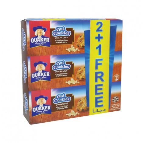 Quaker Oats Cookies Chocolate3X126Gm