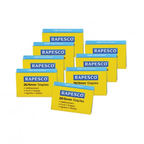 Rapesco 26/6mm Staples 8 Pcs Set