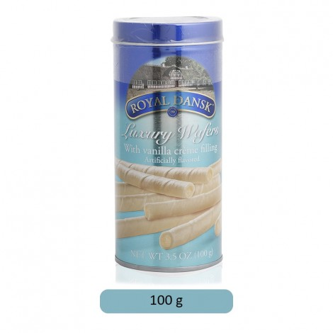 Royal Dansk Luxury Wafers with Vanilla Creme Filling - 100 g