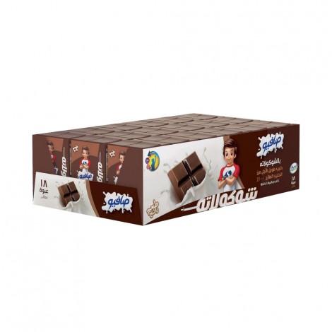Safio UHT Choco Flavored Milk, 18x125ml