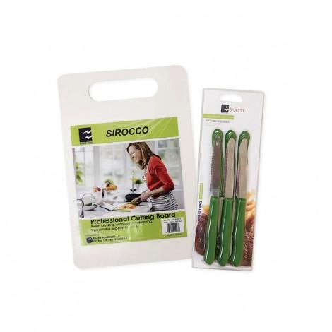 Sirocco Cutting Board + 6Pcs Knife Set