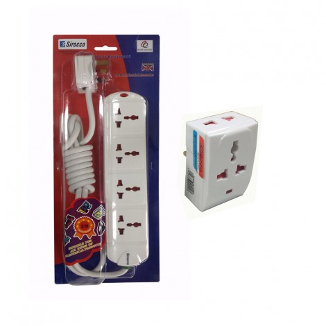 Sirocco Extension  Socket 4Way 2m Uk
