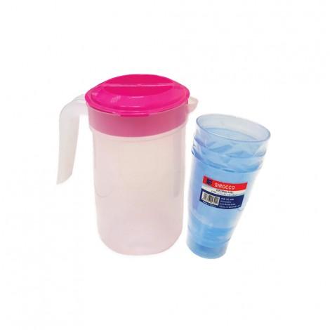 Sirocco Jug + 3Pcs Cups