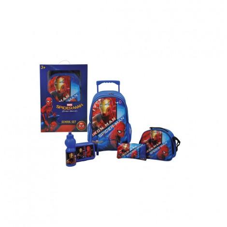 "Spiderman 5In1 18"" Trolley Set"
