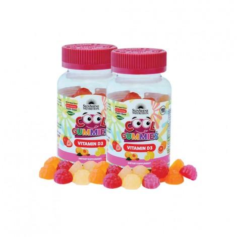 Sunshine Nutrition Vitamin D3 60's Gummies - 1+1