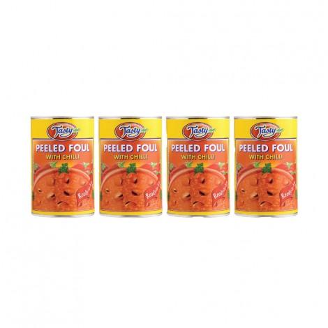Tasty Peeled Foul With Chilli, 4x450gm
